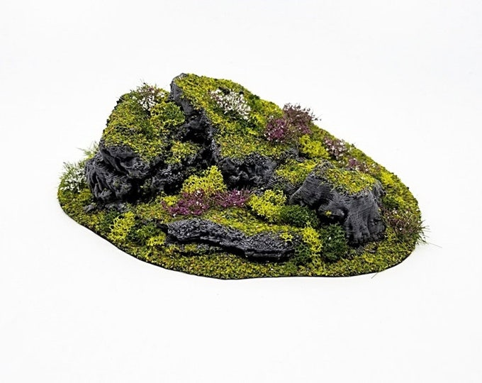 Wargame Terrain - STUB Outcropping F UNPAINTED terrain kit – Miniature Wargaming & RPG terrain