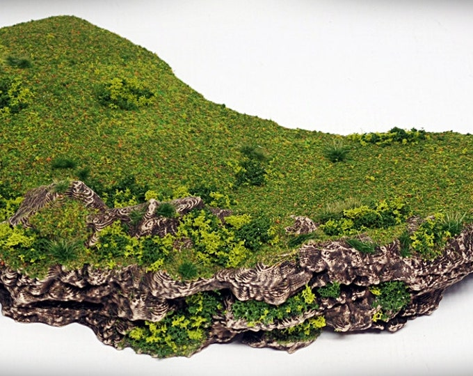 Wargame Terrain - Crescent - Miniature Wargaming & RPG rock formation terrain - 9.5x8x1.5 inches