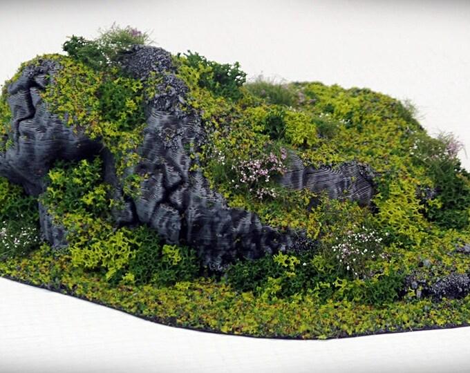 Wargame Terrain - STUB Outcropping E – Miniature Wargaming & RPG terrain
