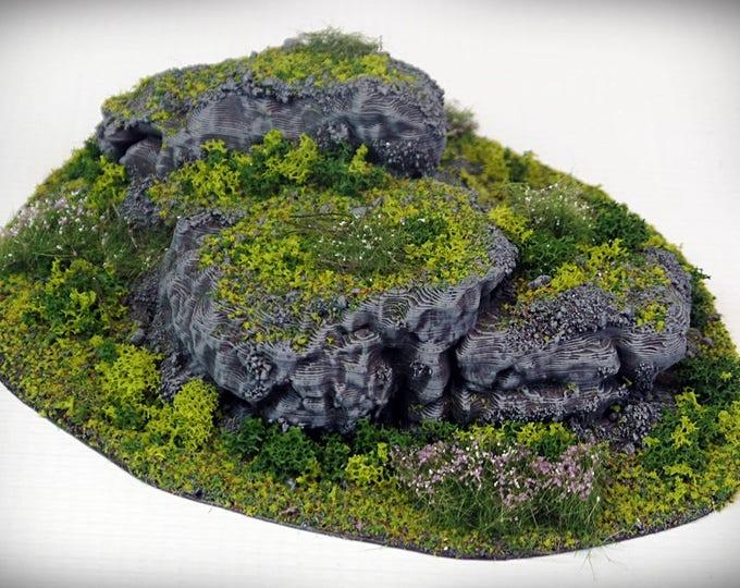 Wargame Terrain - STUB Outcropping C – Miniature Wargaming & RPG terrain