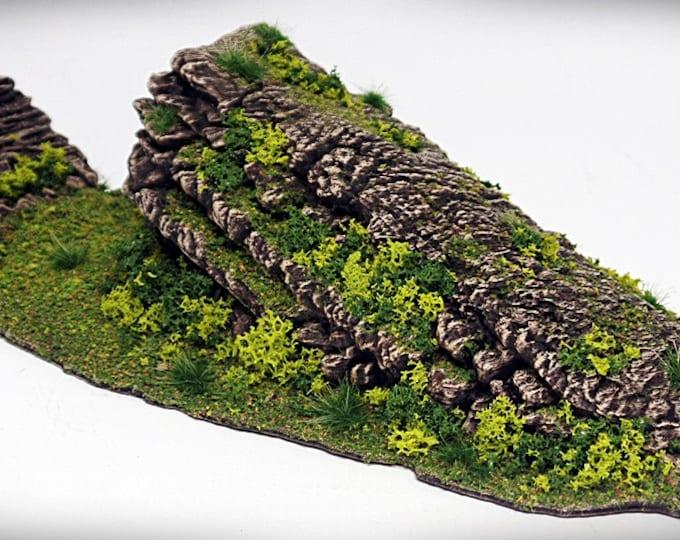 Wargame Terrain - Fallen – Miniature Wargaming & RPG rock formation terrain - 10x4x2inches
