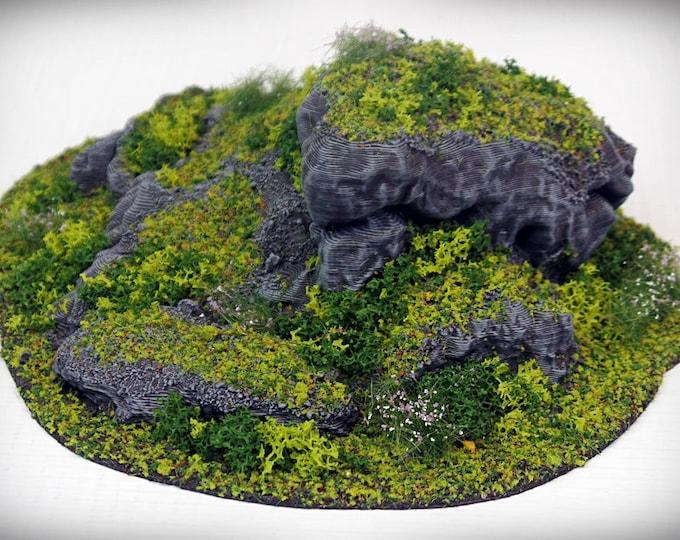 Wargame Terrain - STUB Outcropping D – Miniature Wargaming & RPG terrain