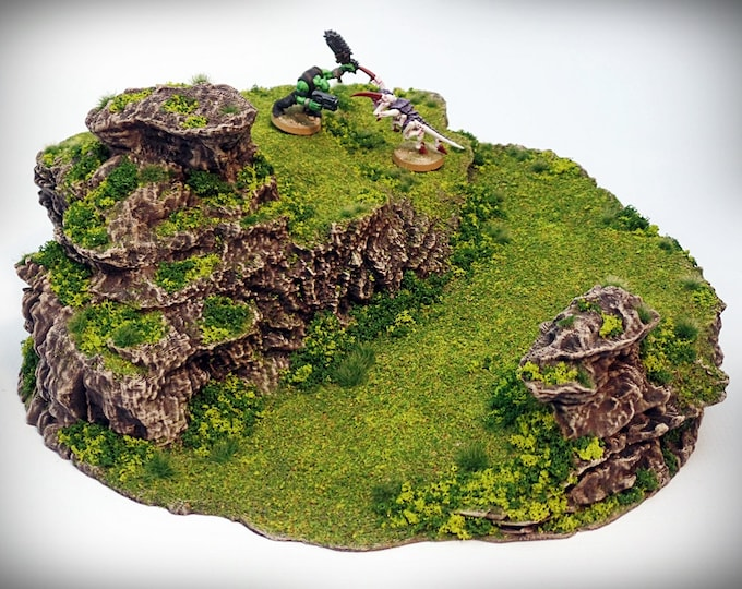 Wargame Terrain - Ramp Spiral – Miniature Wargaming & RPG dynamic hill terrain - 12.5x11.5x5 inches