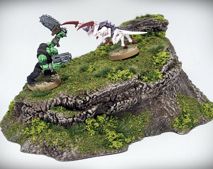Wargame Terrain - Lookout – Miniature Wargaming & RPG rock formation terrain - 7x4.5x3 inches