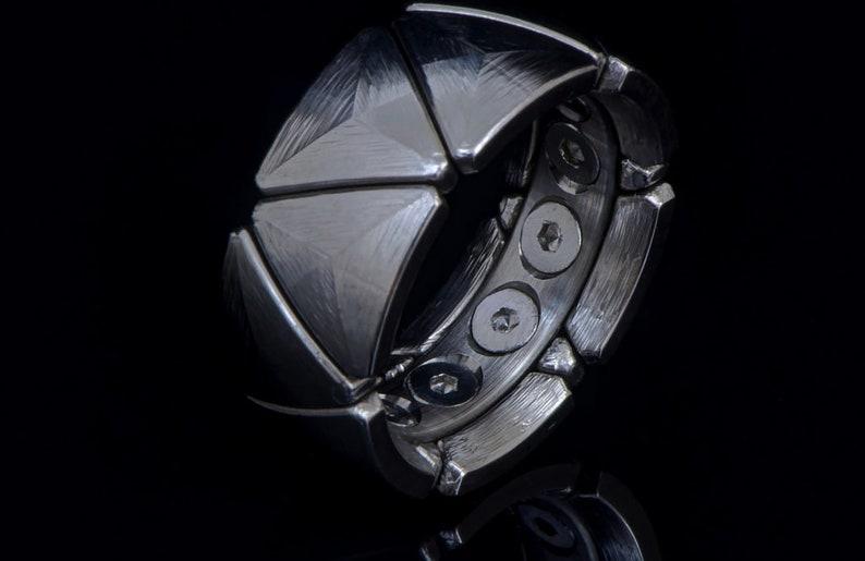 CNC Machined Multi-Piece Titanium Wedding Ring image 0