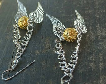 Quidditch Golden Earrings