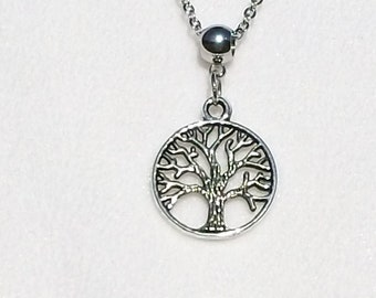 Necklace, Charm Necklace, Tree Of Life Necklace, Tree Necklace