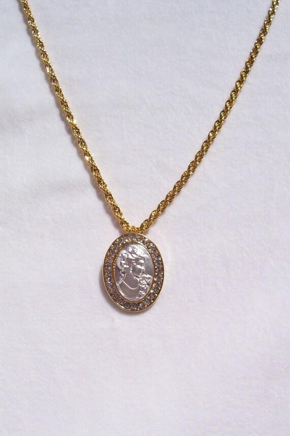 mejor amado aa1cc ad718 Camafeo, collar, collar de oro