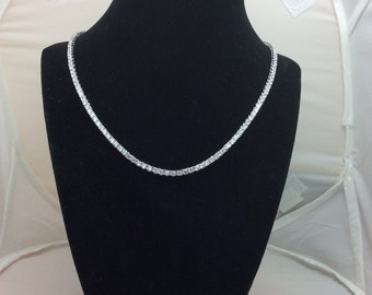 Diamond Lookalike Tennis Necklace CZ (3MM) 18 Beautiful Inches Long 511f65680e