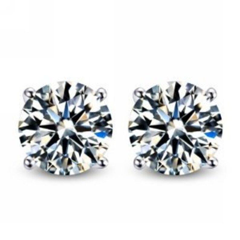 146e79d9901e0 Diamond Lookalike CZ 1.50 Stud Earrings in Sterling Silver <> Total Weight  = 3.00 cts.