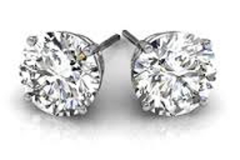 923cf86a4f112 Buy one pair get one pair for free Classic Stud cz 1.25 ct. each <> total  carat weight = 2.50 carats 7 mm each stone