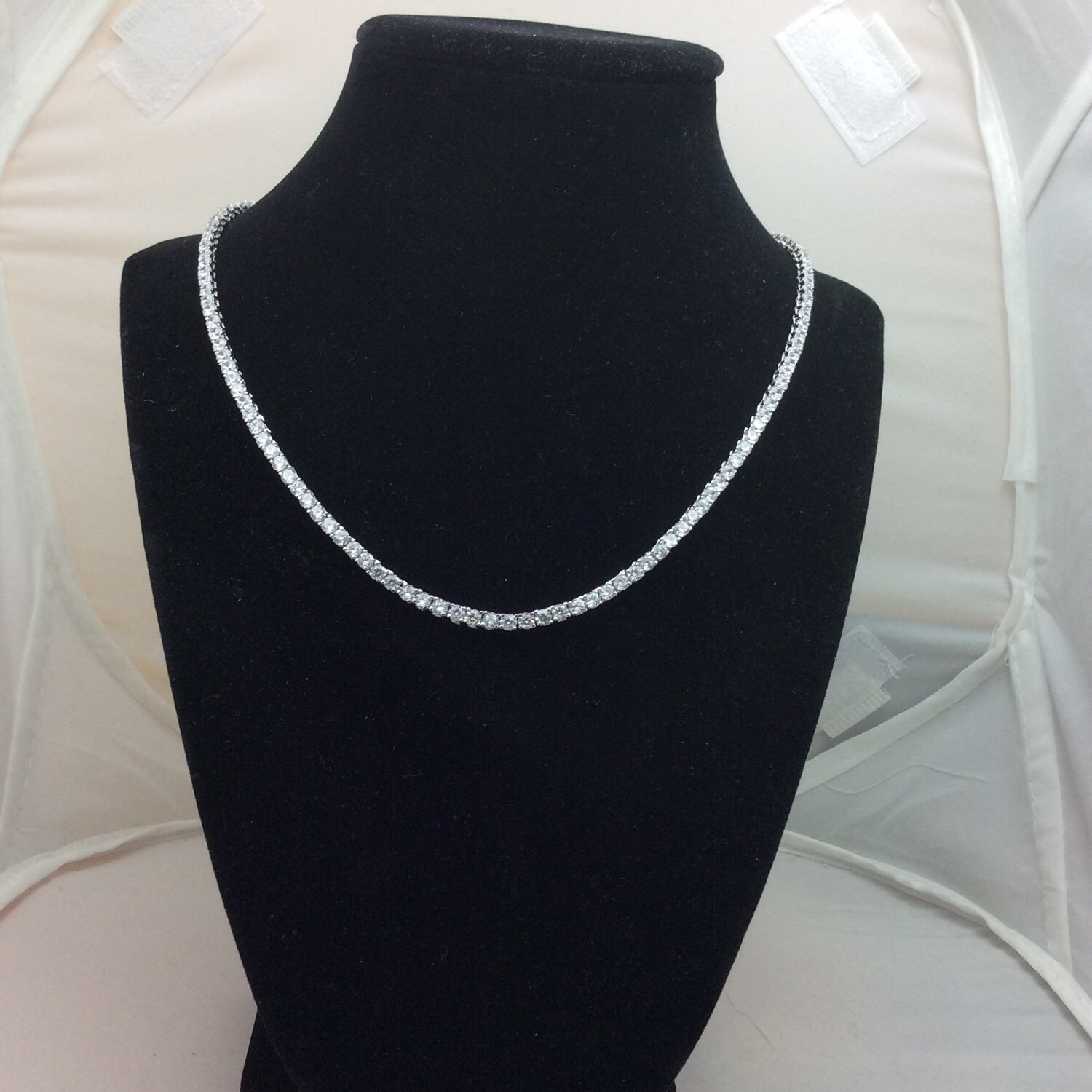 4100919bd92f5 Diamond Lookalike Tennis Necklace CZ (3MM) 18 Beautiful Inches Long