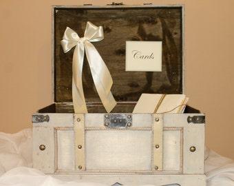 DIY Wedding card trunk / DIY Wedding decor / Wedding card box / Rustic card holder / Large wedding trunk / Vintage wedding / Trunk card box