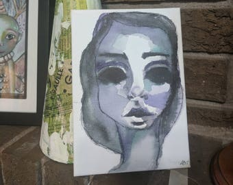 Natasha- An Original Mixed Media Painting on canvas by Amber Button
