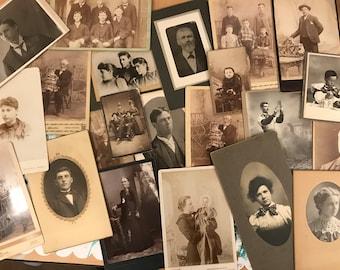 Cabinet Card photo grab bag, 5 random photos! 1800s photography