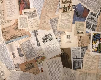 Vintage book page grab bag 55+ pages!