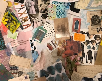 Mixed media grab bag for art journaling junk journaling and collage
