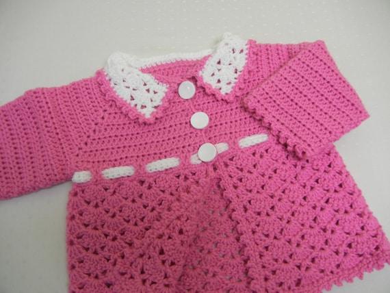 Häkeln Sie Babypullover Baby-Mädchen-Pullover häkeln Baby | Etsy