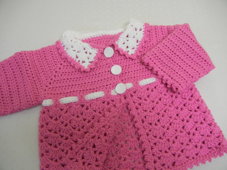 1cf3d3ba63b0 Crochet Baby Sweater Baby Girl Sweater Crochet Infant