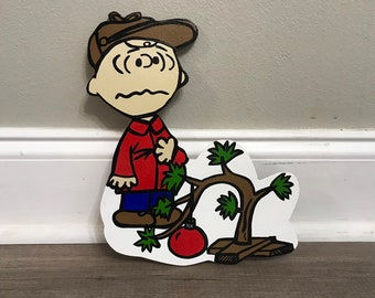small version of charlie brown christmas charlie brown peanuts snoopy christmas yard art charlie brown decorations cake topper