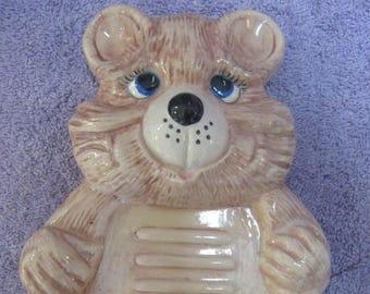 Hand Painted Bear Soap Dish