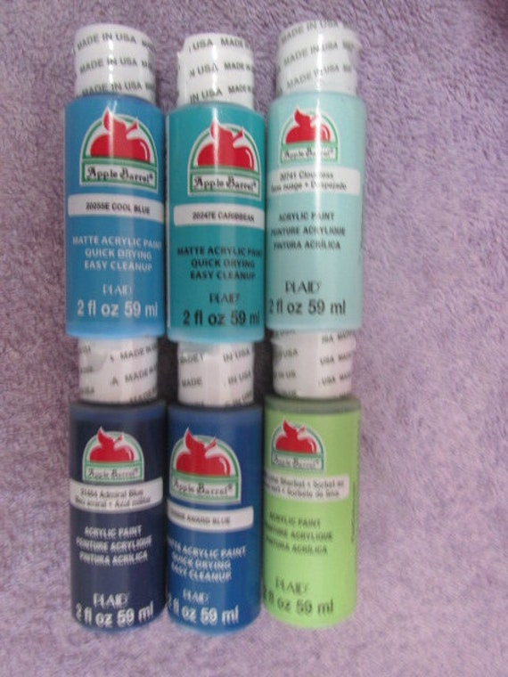 Apple Barrel Paint 6 Assorted Colors See Below For Colors Lot 18