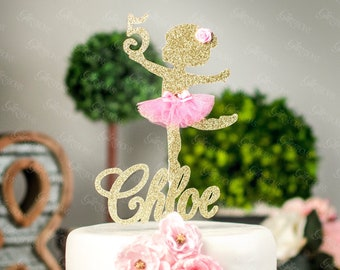 f3df3e98c Any Name and Age cake topper, Ballerina Cake Topper, Custom cake topper,  ballerina, tutu