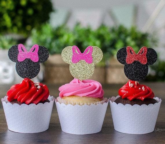 Sensational Minnie Mouse Cupcake Toppers Birthday Decoration Etsy Funny Birthday Cards Online Necthendildamsfinfo