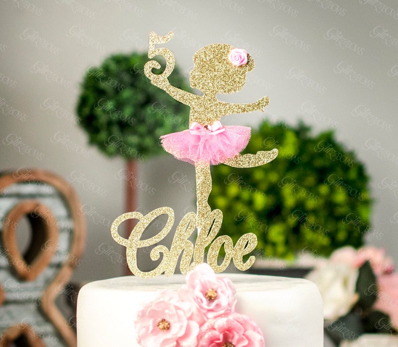 any name and age cake topper ballerina cake topper custom etsyimage 0