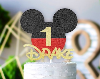 Mickey mouse Inspired Personalized Cake topper, Mickey mouse birthday.