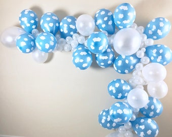 Cloud Balloon Garland DIY Kit ~Time Flies Party Decor~First Birthday Party~Adventure Party~Heaven Sent Baby Shower~Cloud Balloon~Baby Shower