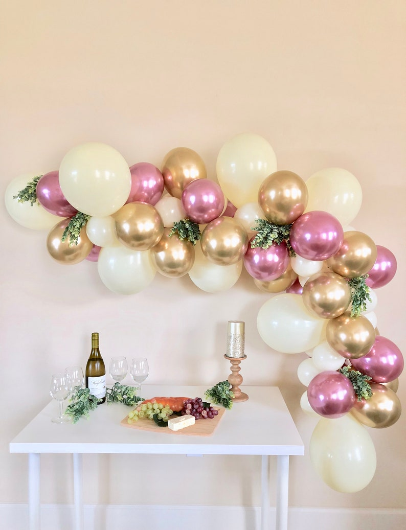 Balloon Garland DIY Kit~ Chrome Gold Chrome Mauve and Ivory~Gold Bridal  Shower~Gold Wedding~Baby Shower~Balloon Arch~Bachelorette~Birthday