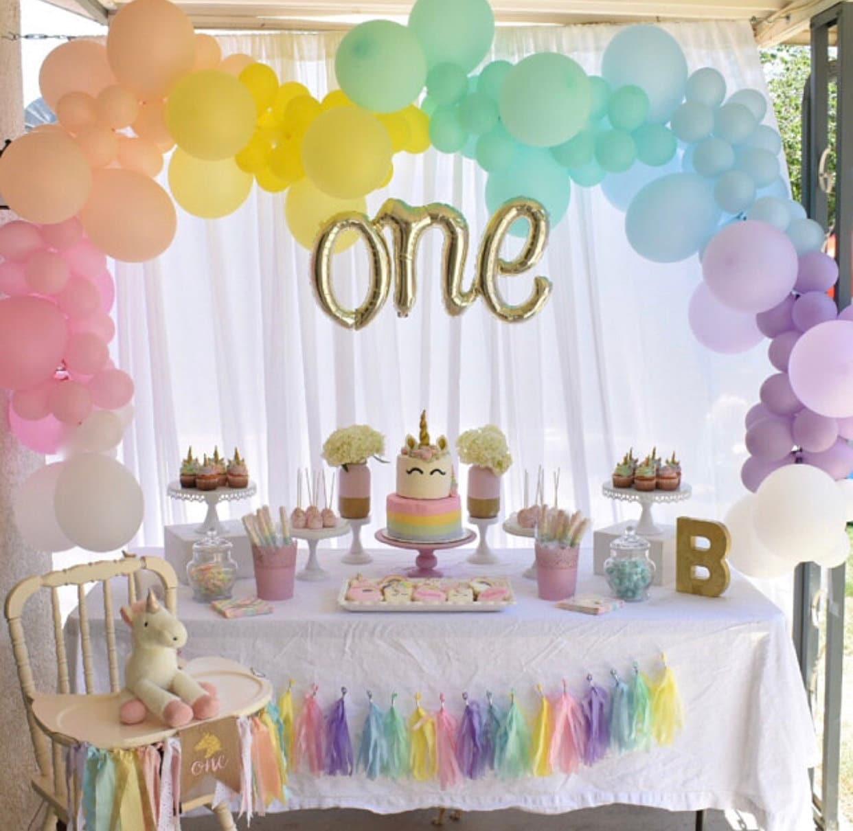 Rainbow Balloon Garland DIY Kit~Unicorn Party Balloons~Rainbow ...