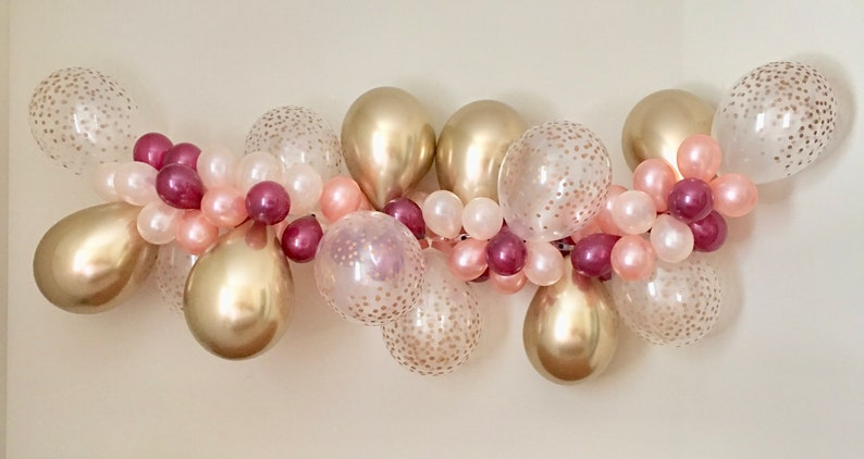 06bd32b7d02 Balloon Garland DIY Kit Rose Gold New Chrome Gold Peach