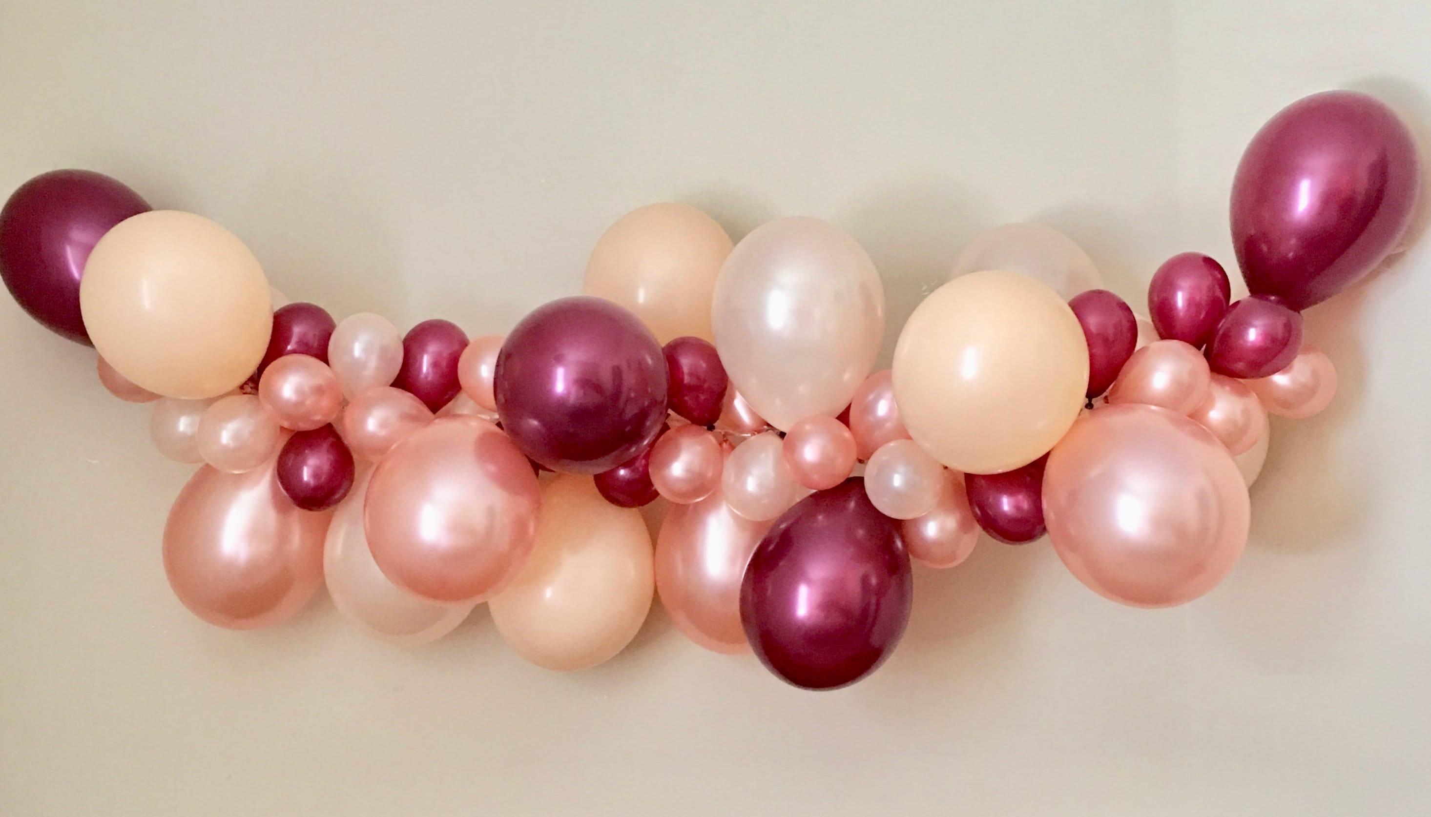 Balloon Garland DIY Kit Rose Gold Peach Blush & BurgundyRose | Etsy