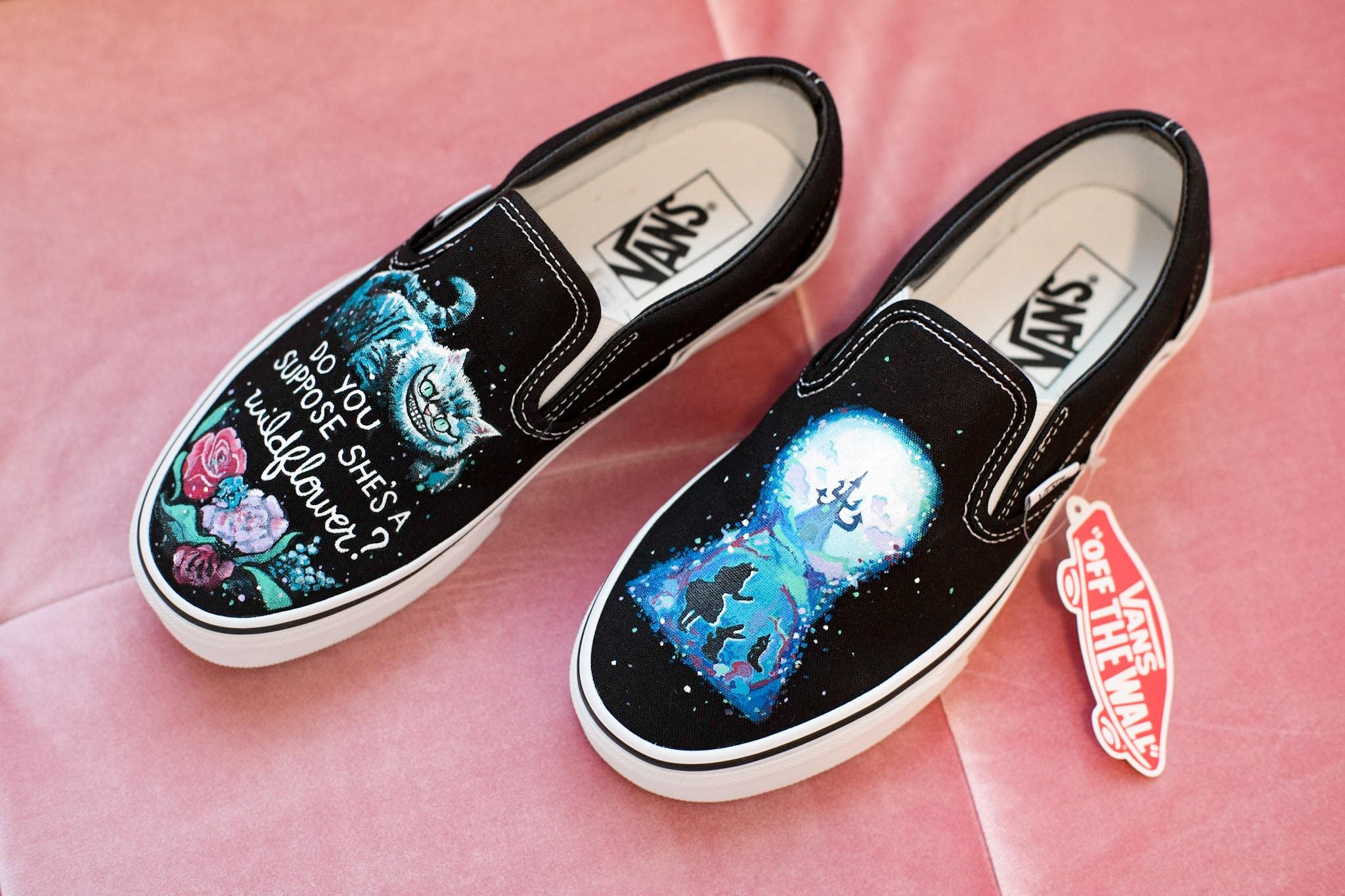 Custom Hand Painted Alice in Wonderland Vans Shoes | Etsy