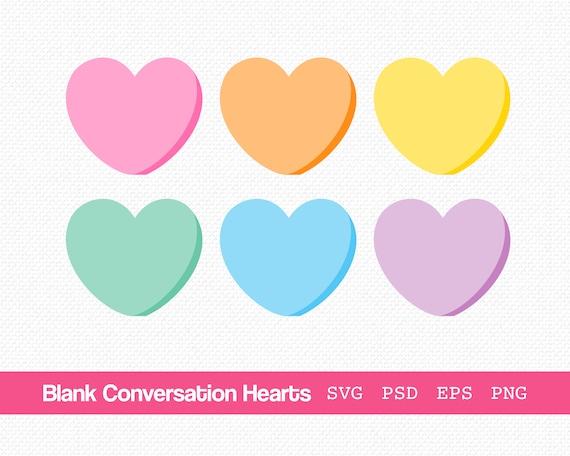 Conversation Hearts Clip Art + SVG Cut Files - Hey, Let's Make Stuff