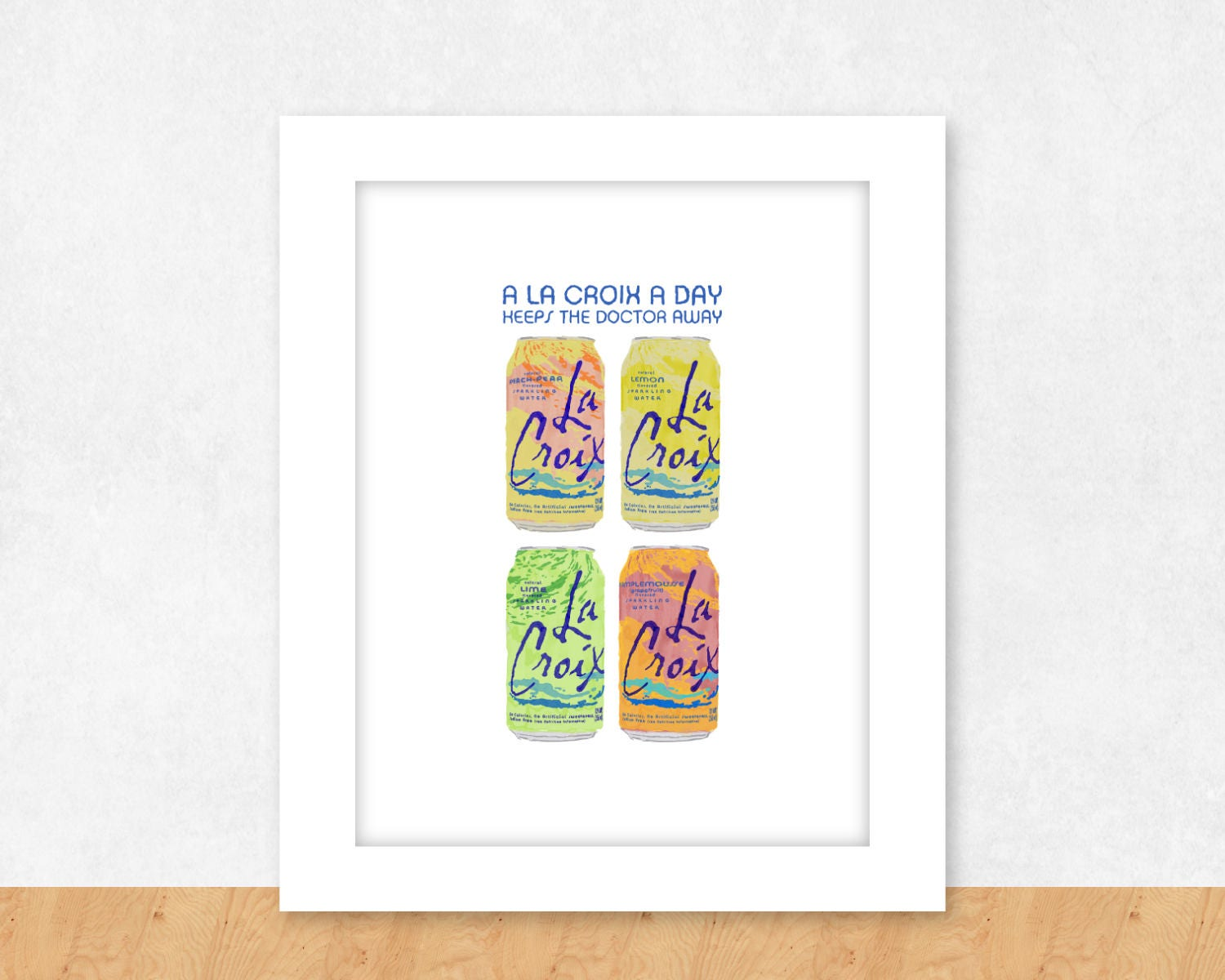 La Croix Poster Pamplemousse Poster Seltzer Poster Gift For Etsy