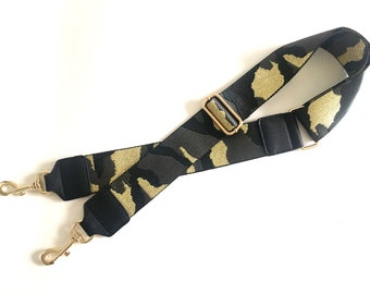 5b33e9332d Camouflage strap adjustable strap for handbags camo strap camouflage handbag  strap gold hardware