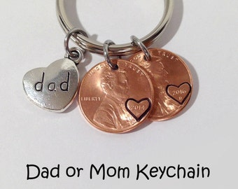 Dad Gifts Birthday Gift Fathers Day From Daughter Keychain New Penny Present For Son
