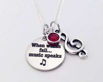 Music Gift Lover Teacher Note Gifts For Musician Choir Necklace