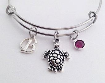 Turtle Gifts, Turtle Jewelry, Turtle Bracelet, Turtle Girl, Turtle Bangle, Sea Turtle Jewelry, Turtle Gift Ideas for Her, Charm Bracelet