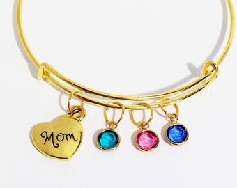 Mom Gifts, Mother's Day Gift for Mom, Mothers Day Jewelry, Mom Gifts from Daughter, Mom Jewelry, Mom Birthday Gift, Mom Birthstone Bracelet