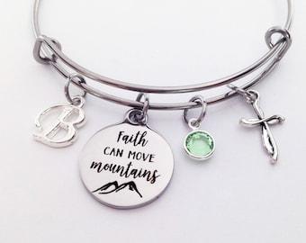 Christian Gifts For Women Faith Bracelet Bangle Jewelry Bracelets Birthday Her Friend