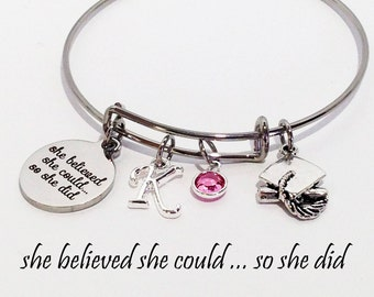 Graduation Gift for her, Graduation Gift, Graduation Cap, Graduation Gift for best friend, Graduation Gifts for girls, Graduation Bracelet
