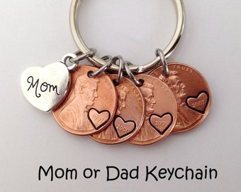 Mom Birthday Gift Mothers Day From Daughter Mother For Gifts Keychain Penny Jewelry