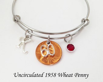60th Birthday Gifts for Women, 60th Birthday Gift, 1958 Penny, 60 Birthday, 60th Birthday, 60th Birthday Party, 1958 Birthday, Sixty Gift