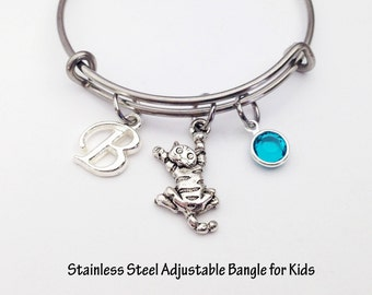 Girls Bracelet, Kitty Bracelet, Cat Bracelet, Childrens Jewelry, Kids Bracelet, Cat Jewelry, Kids Jewelry, Kids Gift, Little Girls Bracelet