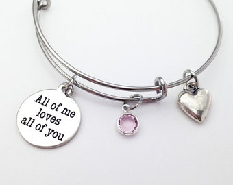 Anniversary Gift For Women Girlfriend Jewelry Personalized Bracelet Birthday