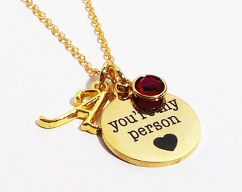 Girlfriend Gift, Youre My Person, You're My Person Necklace, Grey's Anatomy, Gift for Girlfriend, Wife Gift, Girlfriend Personalized